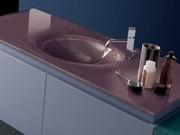 lavabo y encimera de cristal