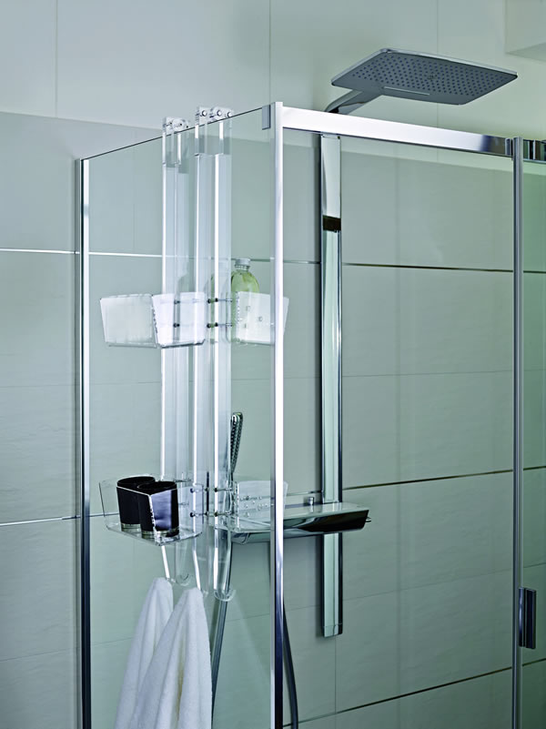 Los contenedores para duchas de dise o itaca design ba os - Estantes para interior ducha ...