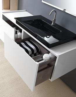 lavabo ceramica negro Karol
