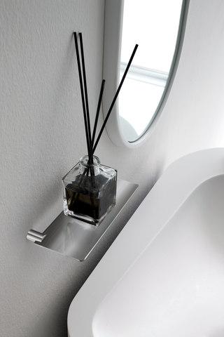 accesorios de baño en acero, estante de pared