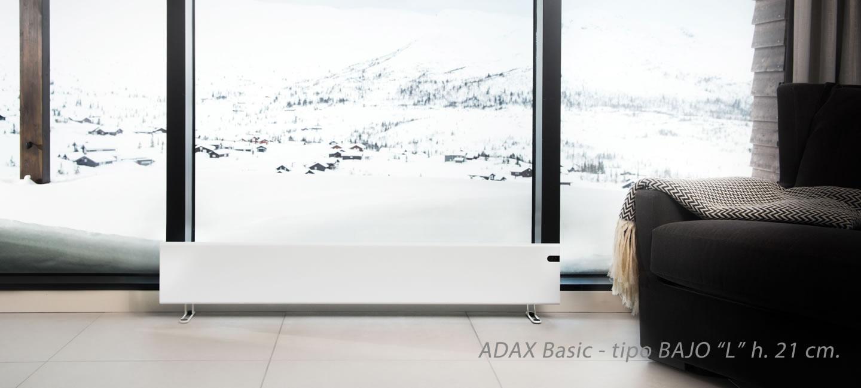 Radiador ADAX Bajo H 21 cm